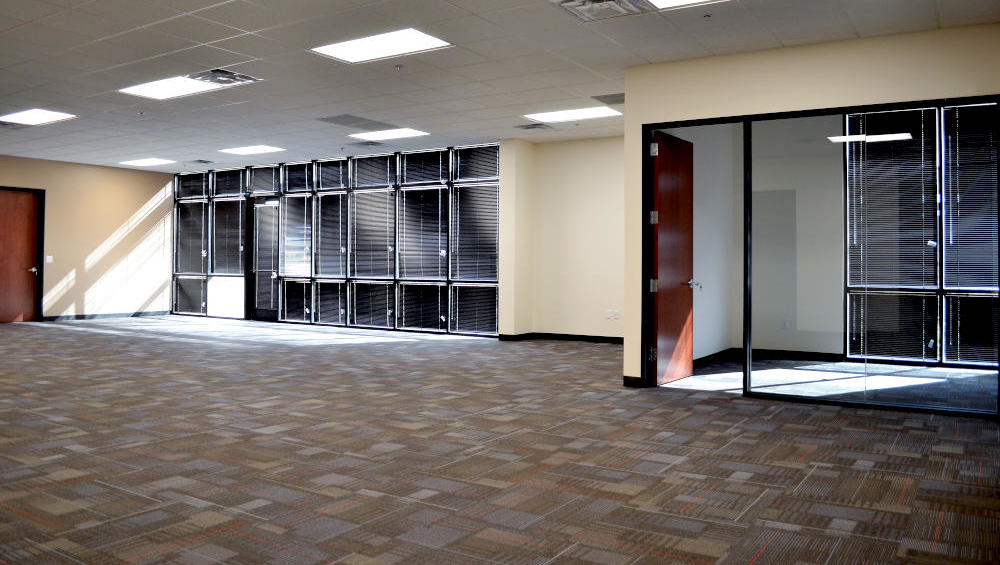 This is a picture of a carpet tile installation in an office building in Chandler, Arizona